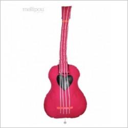 Boîte à musique guitare fushia