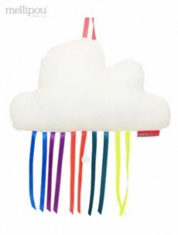 Boîte à musique nuage rainbow blanc