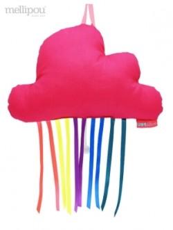 Boîte à musique nuage rainbow rose