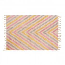 Tapis enfant coton rayé Boomerang multicolore