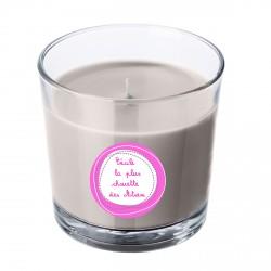 Bougie parfumée grise Atsem rose personnalisable