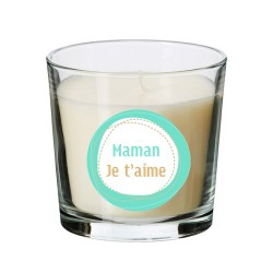 Bougie maman je t'aime menthe