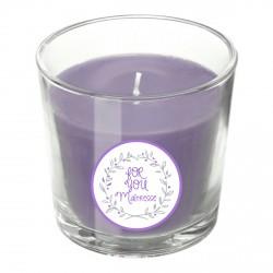 Bougie parfumée mauve For you personnalisable