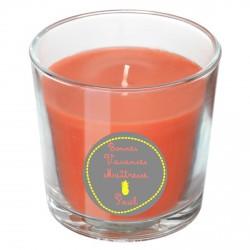 Bougie parfumée orange ananas jaune personnalisable