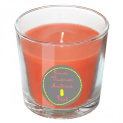 Bougie parfumée orange maîtresse ananas personnalisable