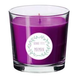Bougie parfumée violet  maman personnalisable