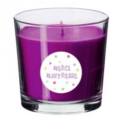 Bougie parfumée personnalisable maîtresse violette