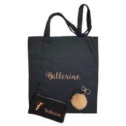Coffret cadeau danse ballerine Harmonie Noir Bronze