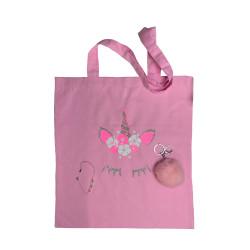 Coffret cadeau Licorne rose fluo