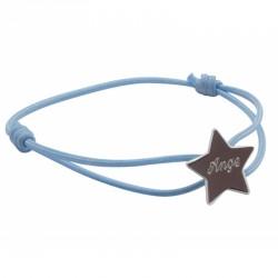 Bracelet Cordon Etoile - Argent
