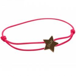 Bracelet Cordon Etoile - Plaqué Or