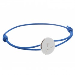 Bracelet cordon Médaille - Argent