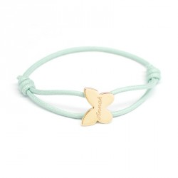 Bracelet Cordon Papillon - Plaqué Or