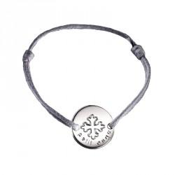 Bracelet mini jeton Croix occitane - argent