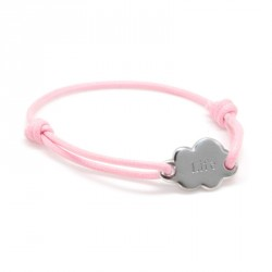 Bracelet Cordon Nuage - Argent
