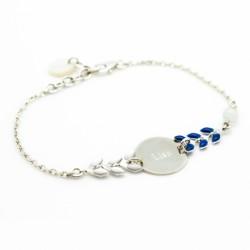 Bracelets chaine et émail Argent
