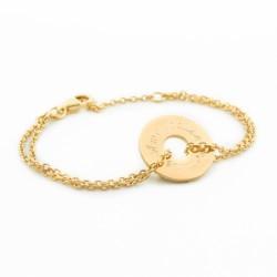 Bracelet Poème- plaqué or