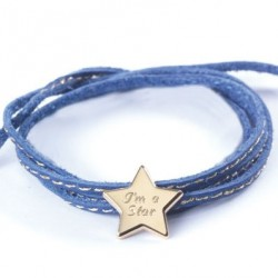 Bracelet Amazone Star - Plaqué or