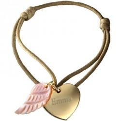 Bracelet Coeur d'Ange - plaqué or