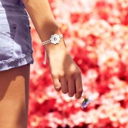 Bracelet en dentelle motif Fleur