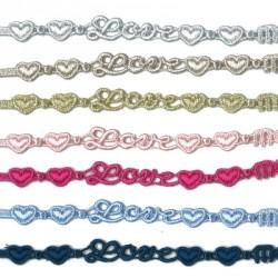 Bracelet en dentelle motif Love coeur