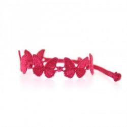 Bracelet en dentelle motif Papillon