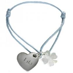Bracelet Kids Coeur de Trèfle- argent ou plaqué or