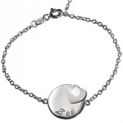 Bracelet Lovely Médaille coeur- argent