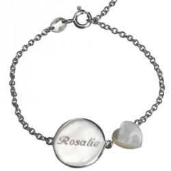 Bracelet Lovely Nacre Coeur - argent