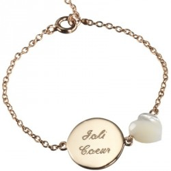 Bracelet Lovely Nacre Coeur - plaqué or