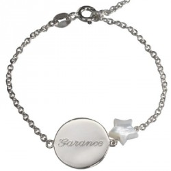 Bracelet Lovely Nacre Star - argent