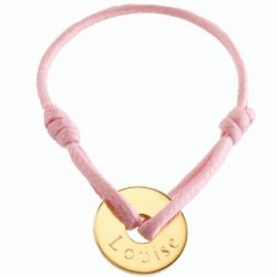 Bracelet mini jeton - plaqué or