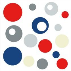 Bubble bleu blanc rouge