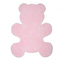Tapis en coton Little Teddy rose