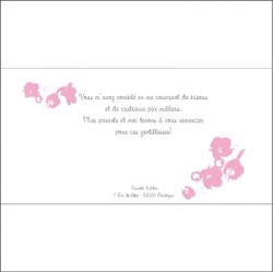 Carte de remerciements Patchwork A rose