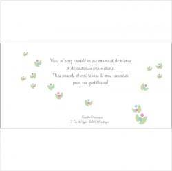 Carte de remerciements Patchwork B Violet