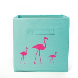 Casier de rangement 3 flamants  personnalisable