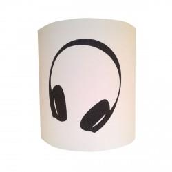 Applique casque écouteur musical pailleté personnalisable