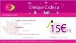 Chèque cadeau de 15 €uros