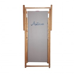 Chaise longue toile coton Antoine personnalisable