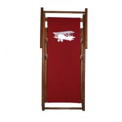 Chaise longue toile coton avion personnalisable