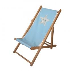 Chaise longue toile coton étoile Liberty personnalisable