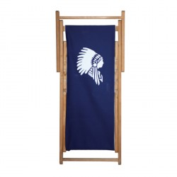 Chaise longue toile coton indien personnalisable