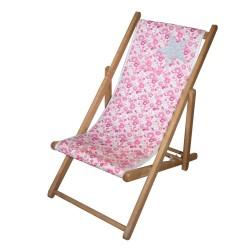 Chaise longue toile liberty étoile personnalisable