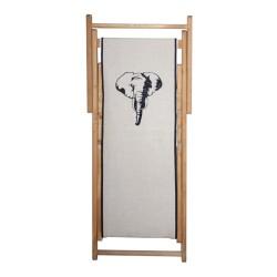 Chaise longue toile lin éléphant personnalisable