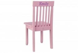 Chaise enfant rose personnalisable
