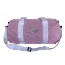 Sac de sport rose chats