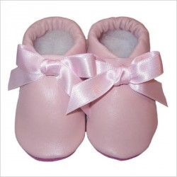 Chaussons Noeud Rose