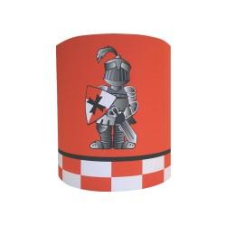 Abat jour ou Suspension le chevalier Perceval fond couleur personnalisable