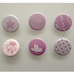 Collection de badges danse